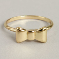 More Than You Bow Gold Knuckle Ring
