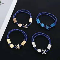 Louis Vuitton Woman Fashion Logo Plated Bracelet Jewelry