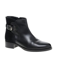 Faith Stockwell Black Leather Ankle Boots