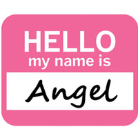 Angel Hello My Name Is Mouse Pad - No. 1