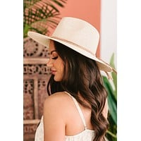 Shaded Style Wide Brim Woven Sun Hat (Ivory)