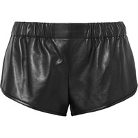 Saint Laurent - Leather shorts