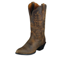 Ariat Women's Heritage Western R Toe Boots - Distressed Brown - 10001021