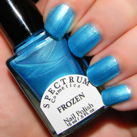 FROZEN Pearlescent Blue Nail Polish WINTER BLUES Collection