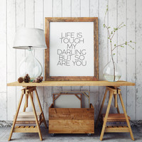 Fashion quote Posters Quotes Typographic print Life is a party Quote Ptintable Wall art Style print Fashion Typography quote,Fashion quote