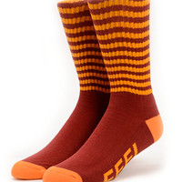 Odd Future Feel Good Red & Orange Crew Socks