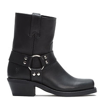 Frye Boot Harness 8R - Black Leather Harness Boot