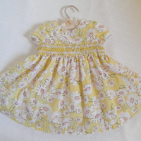 Baby Girl Dress Smocked Clothing Yellow Daisy Photography Gown Vintage Baby Dress Vintage Photo Props 12 Months The Children's Place