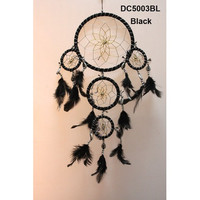 Big Dream Catcher Bead Ornament Feathers Five rings Wall Hanging Car Decor Home&Living Decoration (6 Colors Choice)