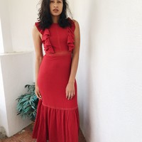 BELINAY MAXI DRESS- RED