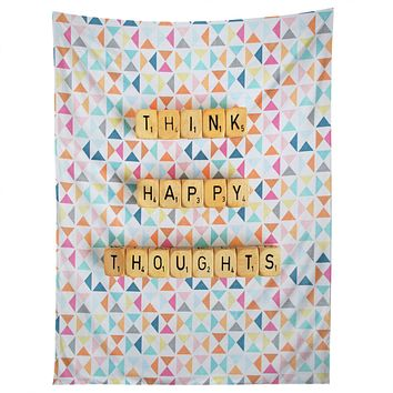 Happee Monkee Think Happy Thoughts Tapestry