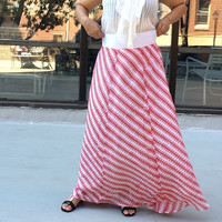 Summer skirt maxi skirt high wasted skirt handmade skirt