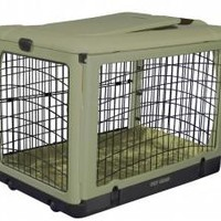 The Other Door Steel Crate with Bolster Pad