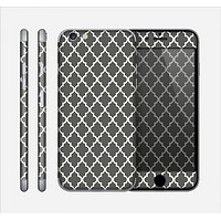 The Dark Gray and White Morocan Pattern Skin for the Apple iPhone 6