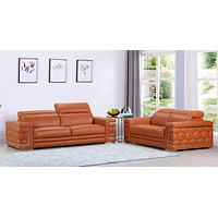 """Leather Sofa - 71"""" X 41"""" X 29"""" Modern Camel Leather Sofa And Loveseat"""