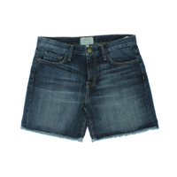 Current/Elliott Womens Fringe Boyfriend Denim Shorts