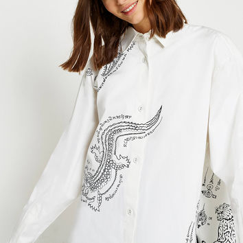 Angel Chen Beast Oversized Shirt   Urban Outfitters