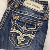 ROCK REVIVAL TRICIA B3 BOOTCUT JEANS