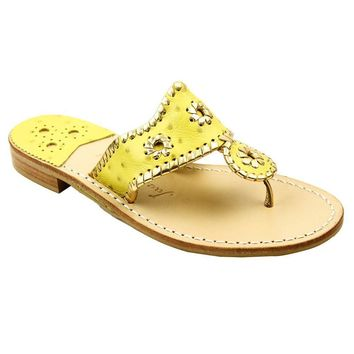 Exclusive Ostrich in Yellow and Gold Navajo Sandals by Jack Rogers