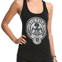 The Hunger Games: Catching Fire District 12 Victor Girls Tank Top