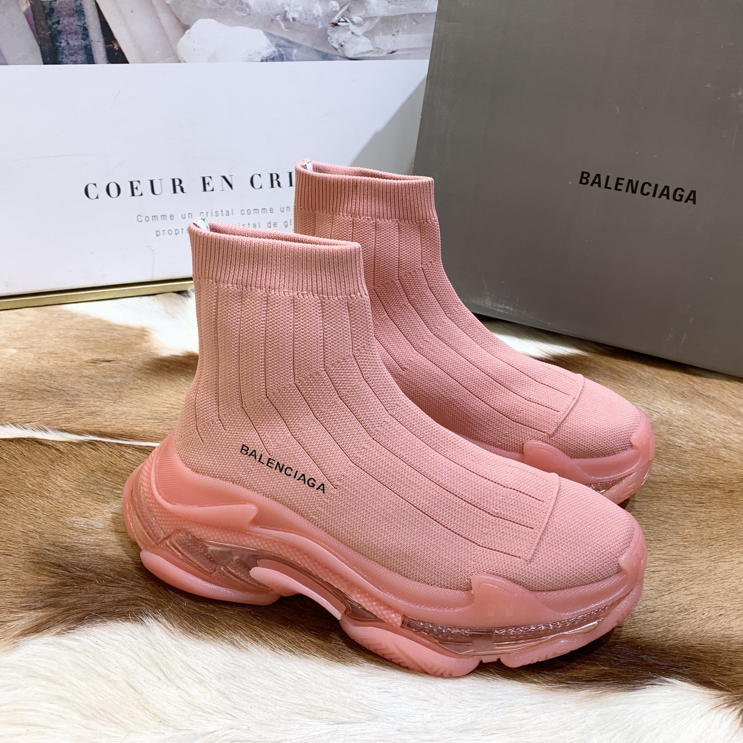 Image of Balenciaga Trendy Woman Men Boots Fashion Breathable Sneakers Running Shoes