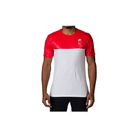 Nike S Plus Buckets 1 Tee- White/Action Red