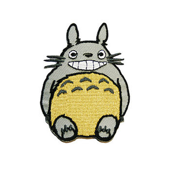 Totoro Iron On Patch Embroidery Sewing DIY Customise Denim Cotton My Neighbour Totoro Studio Ghibli Nerd Geek
