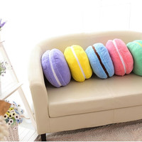 Macaron Kawaii Plushie Plush Pillow - CUTE - Chocolate Flavor!