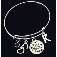 Personalized Gift You Got This Expandable Charm Bracelet Silver Inspirational Gift for Her Adjustable One Size Fits All