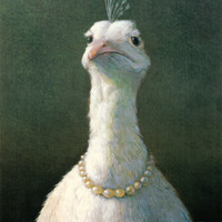 Fowl with Pearls Art Print by Michael Sowa at Art.com
