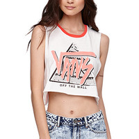 Vans Tough Enough Cropped Tank - Womens Tee - White - Extra Large
