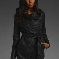 MUUBAA Clover Belted Waterfall Jacket in Black at Revolve Clothing - Free Shipping!
