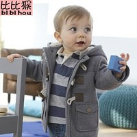 Christmas Toddler Baby boys Winter Warm Outerwear Thicken Hooded faux leather Fleece Jacket Outfit Overcoat Parka Snowsuit