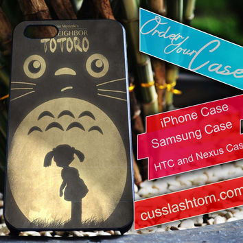 Exclusive My Neighbour totoro iPhone for 4 5 5c 6 Plus Case, Samsung Galaxy for S3 S4 S5 Note 3 4 Case, iPod for 4 5 Case, HtC One M7 M8