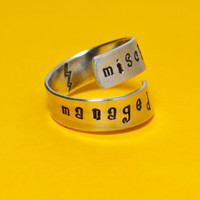 Mischief Managed Wrap Ring  Harry Potter by SilverStatements