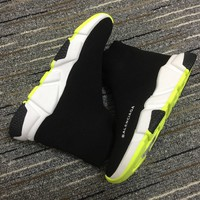 Balenciaga Speed In Black Knit And White Sole Unit Trainers - Best Online Sale