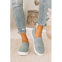 Down The Block Denim Canvas Sneakers (Denim Blue)