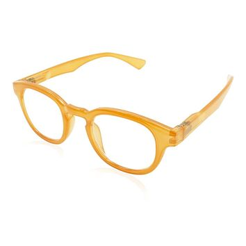Evon Clear Orange Reading Glasses