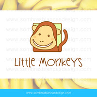 OOAK Premade Logo Design - Baby Monkey - Perfect for a newborn accessories shop or a children clothing brand