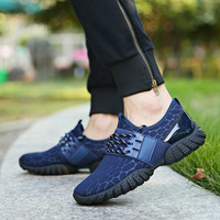 Mens Breathable Laces on Strap Running Shoes