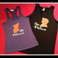 Celebrating Halloween Try These Disney Inspired Couples TShirt Ariel and Eric Inspired, Couples Tanks Disney Princess Inspired Shirts