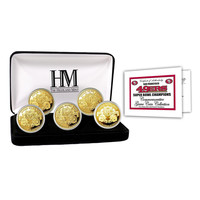 San Francisco 49ers 5-time Super Bowl Champions Gold Game Coin Set