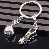 Unique Metal Ring Key Chain Keyfob Cool Soccer Shoe Lovely Keyrings SM6