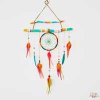 Reserve Listing for Savarino // The Shaman's Journey- A Native Rasta Dream Catcher Feather Mobile