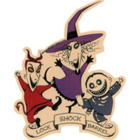 The Nightmare Before Christmas Lock Shock & Barrel Sticker