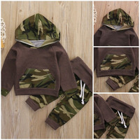 Toddler Baby Boys Girls Clothing Warm Hoodie Tops Long Pants Winter Autumn Clothes Outfits Set Clothes 0-4Y
