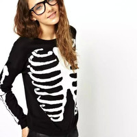 Black Skeleton Sweater