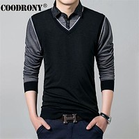 Casual Plaid Sweater Shirt Men Winter Knitted Wool Twinset Vest Men Cashmere Pullovers Men Cotton Pull Home