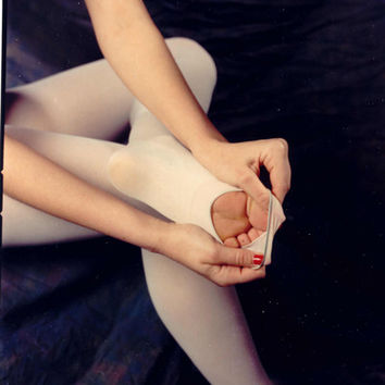 Ladies Prima Soft Tights with Back Seam (Ballet Pink)