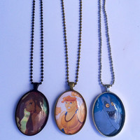 Disney's Hercules - Your Choice Of Necklace Or Keychain - Choose Megara, Hercules, or Hades